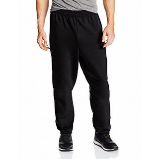 Hanes NEW Deep Black Mens Size XL Jogger Drawstring Sweatpants Stretch 900
