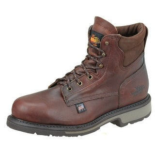 Thorogood Work Boots Mens Job Pro Steel Toe Black Walnut 804-4203