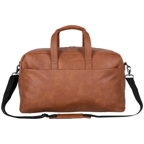 Kenneth Cole Reaction 20-inch Faux Leather Single Compartment Top Zip Travel Duffel / Carry-On
