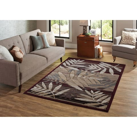 Orelsi Brown/Beige Polyester Area Rug