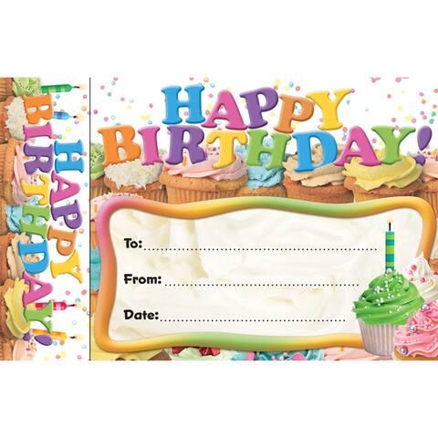 (6 Pk) Happy Birthday Cupcakes Bookmark Award