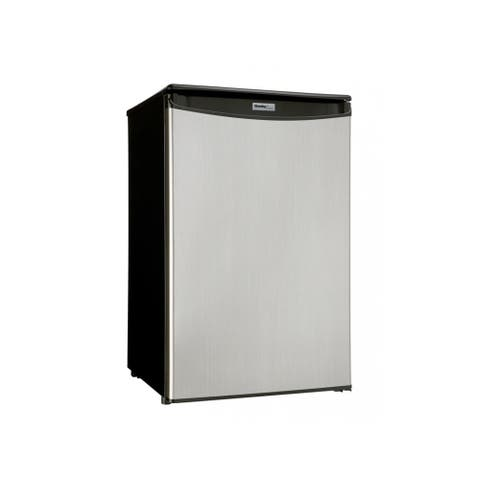 """Danby DAR044A5 21"""" Wide 4.4 Cu. Ft. Energy Star Free Standing Compact Refrigerator with Spotless Steel Door and CanStor"""