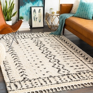 Link to Kortne Bohemian Geometric Shag Area Rug Similar Items in Transitional Rugs