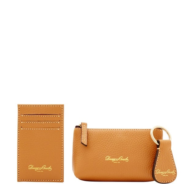 Dooney & Bourke Pebble Grain 3PC Boxed Gift Set (Introduced by Dooney & Bourke at $98 in Jan 2017)