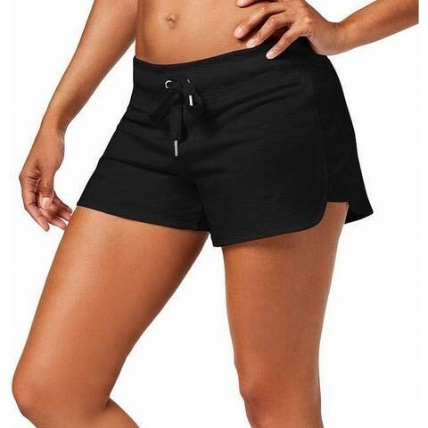 Calvin Klein Womens Shorts Heather Black Size XXL Plus Drawstring Knit
