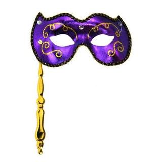 Purple Masquerade Stick Mask