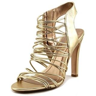 BCBGeneration Pashas Women Open Toe Leather Gold Sandals