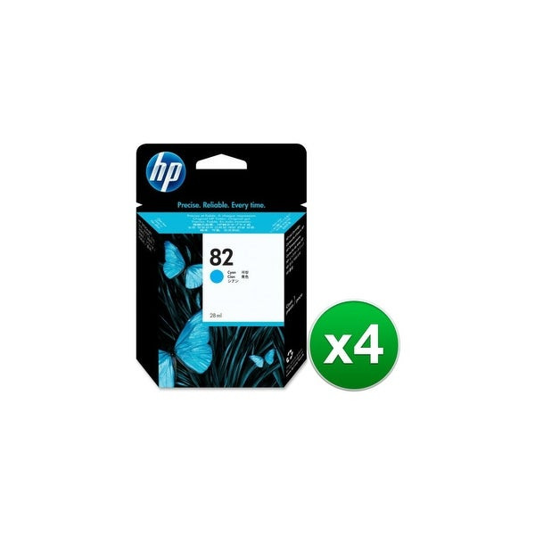 HP 82 69-ml Cyan DesignJet Ink Cartridge (C4911A) (4-Pack)