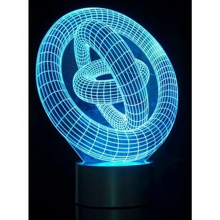 3D Ring In Ring Laser Cut Precision LED Lights