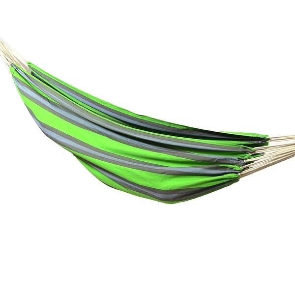 sunnydaze premium 100   natural tightly woven cotton double brazilian hammock  u0026amp  hammock stand sunnydaze premium 100   natural tightly woven cotton double      rh   overstock