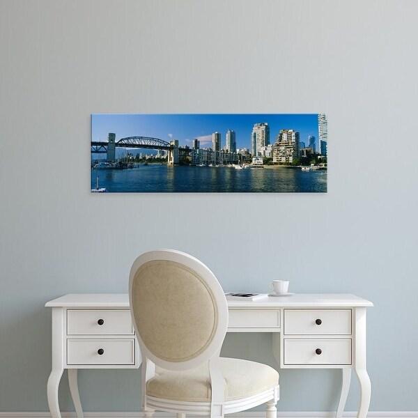 Easy Art Prints Panoramic Image 'Burrard Street, Granville Island, Vancouver, British Columbia, Canada' Canvas Art