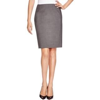 Elie Tahari Womens Pencil Skirt Wool Lined