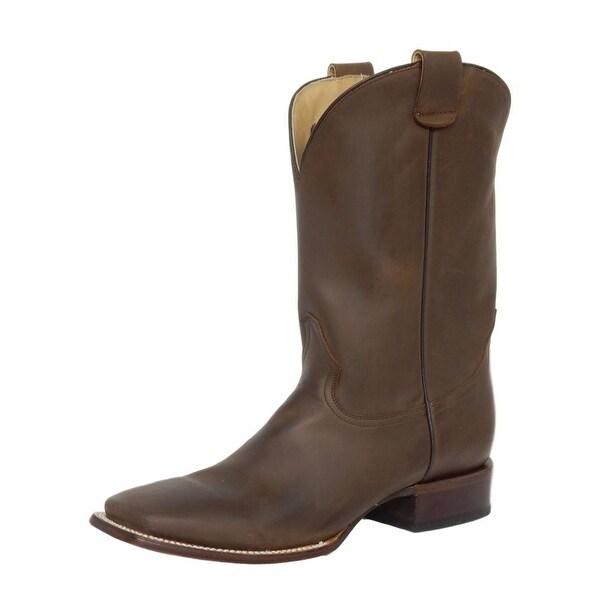 Roper Western Boots Mens Square Sidewinder Brown