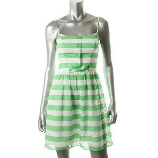 Lilly Pulitzer Womens Antonia Adjustable Straps Stripes Sundress - 6