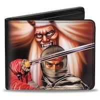 Sega Genesis The Revenge Of Shinobi Box Cover Art Bi Fold Wallet - One Size Fits most