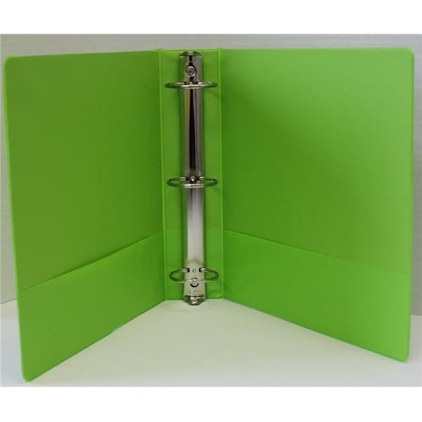 shop 1 5 in basic 3 ring binder with two inside pockets lime