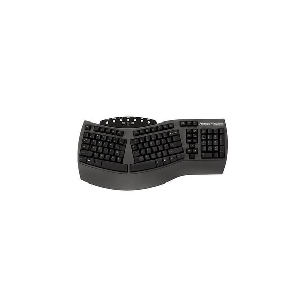 Fellowes, Inc. E09234B Fellowes Microban Split Design Keyboard, Black 98915