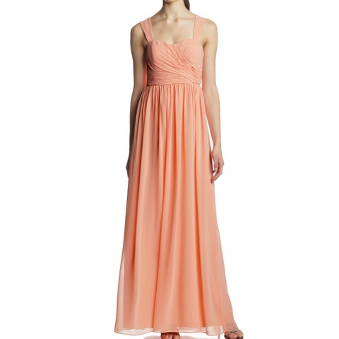 DM Donna Morgan Orange Peach Womens Size 0 Gown Bailey Dress