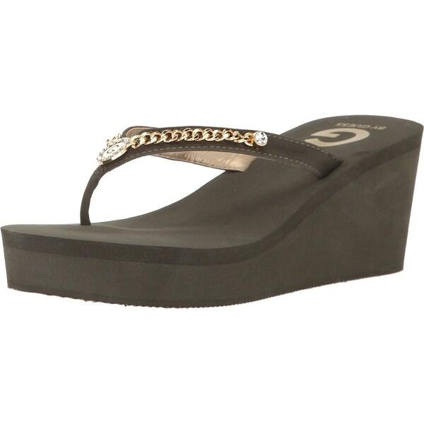 G by Guess Womens Statuz Open Toe Casual Platform Sandals