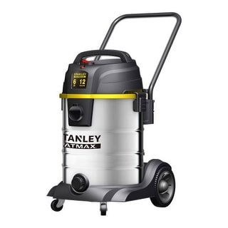 Stanley Fatmax SL18501-12B Wet Dry Vacuum 12 Gallon 6 Peak HP Stainless Steel - STAINLESS STEEL