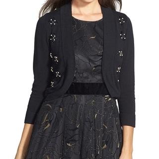 Eliza J NEW Black Embellished Women's Size Small S Cardigan Sweater