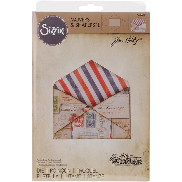 "Sizzix Movers & Shapers ""L"" Magnetic Die By Tim Holtz-Envelope"