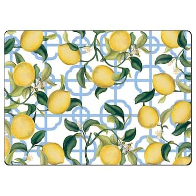 Cala Home Hardboard Placemats - Seville Lemons - Set of 4 - 15.5x11.25x.202