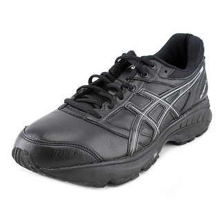 Asics Gel-Foundation Walker 3 Women 2E Round Toe Leather Black Walking Shoe