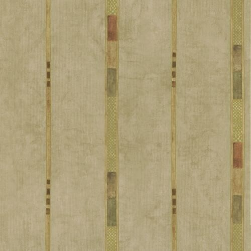 Brewster 347-43078 Tenney Beige Checkered Stripe Wallpaper
