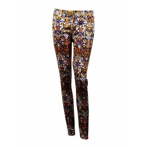 Celebrity Pink Juniors' Printed 'The Lifter' Skinny Pants - Blue Magic