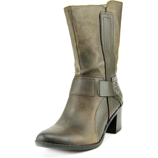 Bar III Wade Women  Round Toe Leather Gray Mid Calf Boot