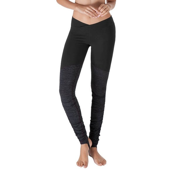 6c8e3a84f15e76 Shop Yogareflex Black Gray Womens Size Small S Stirrup Active Leggings -  Free Shipping On Orders Over $45 - Overstock.com - 27278773