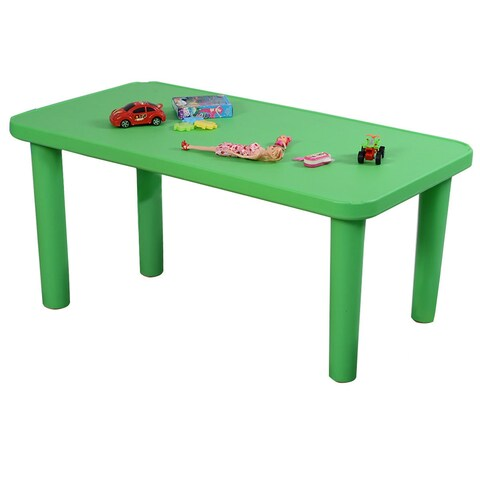 Costway Kids Portable Plastic Table Learn and Play Activity School Home Furniture Green