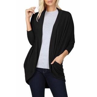 Link to NE PEOPLE  Womens Casual 3/4 Sleeve Batwing Side Pockets Open Cardigan Similar Items in Women's Sweaters