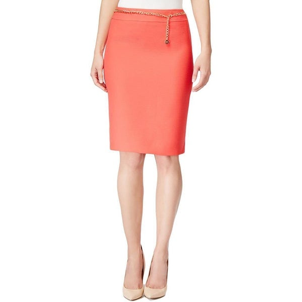 ad81e49fe6 Shop Tahari ASL Belted Crinkle Pencil Skirt - 6 - Free Shipping On Orders  Over $45 - Overstock - 19402490