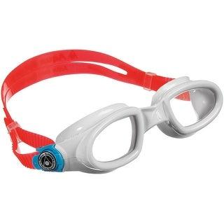 Aqua Sphere Mako Clear Lens Swim Goggles - White/Baia