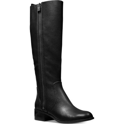 MICHAEL Michael Kors Womens Frenchie Riding Boots Leather Knee-High