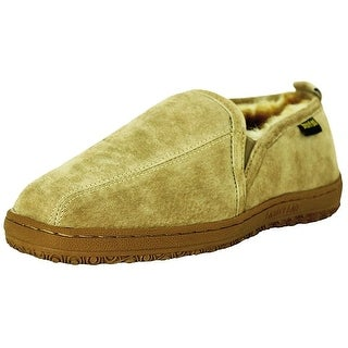 Old Friend Slippers Mens Sheepskin Romeo Moccasin Chestnut 421188