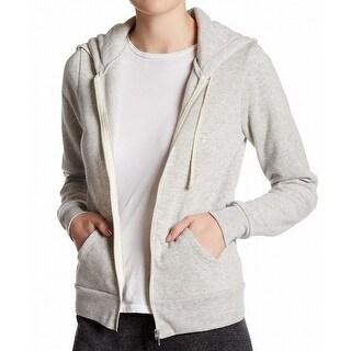 Alternative NEW Gray Heather Women's Large L Hoodie Full-Zip Sweater