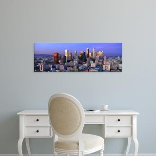 Easy Art Prints Panoramic Images's 'Skyline, Los Angeles, California' Premium Canvas Art