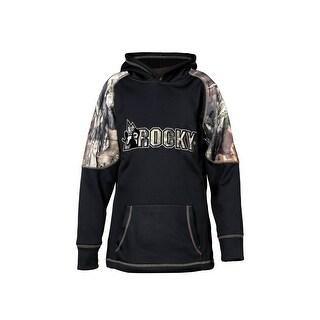 Rocky Outdoor Sweatshirt Girls Hoodie Logo Snow Camo Black LW00115