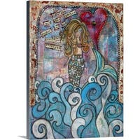 Denise Braun Premium Thick-Wrap Canvas entitled Love Guided Her - Multi-color