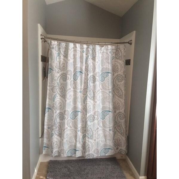 Shop Garden Paisley Blue Grey Shower Curtain