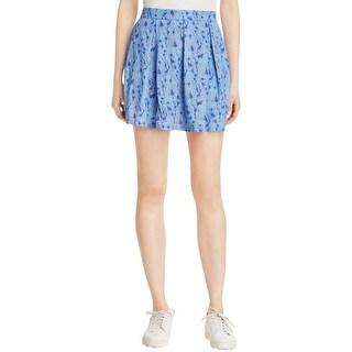 Jack Womens Donoma Mini Skirt Printed Pleated