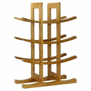 Oceanstar 12-Bottle Natural Bambbo Wine Rack WR1149