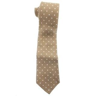 Zara Mens Linen Polka Dot Neck Tie - M