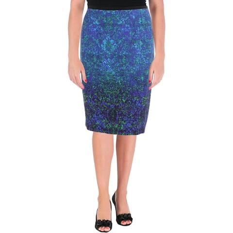 Elie Tahari Womens Beatrice Pencil Skirt knee-Length Work Wear
