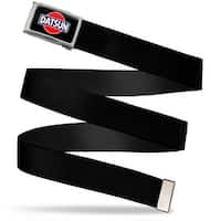 Classic Datsun Logo Fcg Black Red Blue White  Chrome Black Webbing Web Belt
