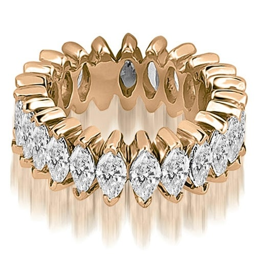 4.50 cttw. 14K Rose Gold Marquise Diamond Eternity Ring