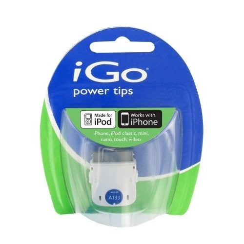 iGo A133 30-Pin Dock Connector Power Tip for iPod and iPhones (White) - TP06133-